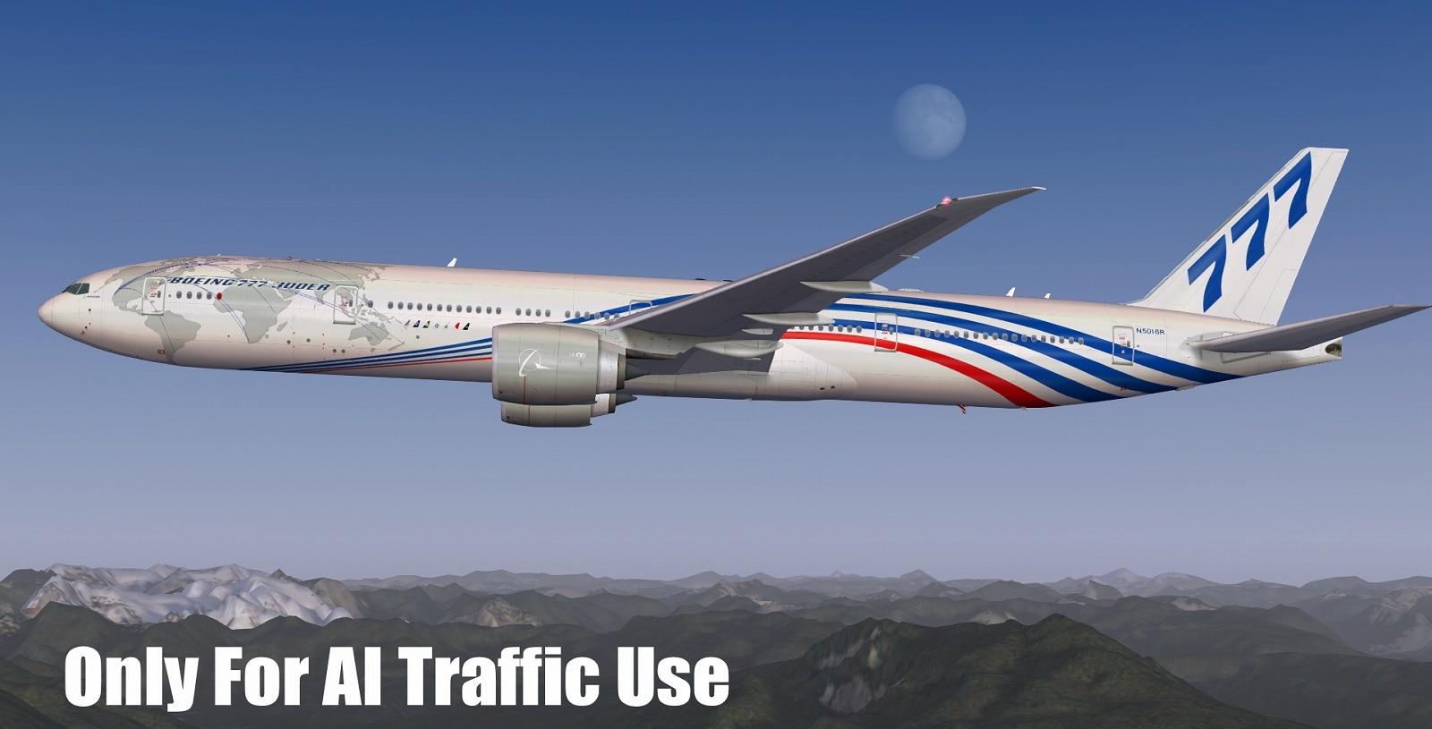 FSPXAI – Boeing 777 FSX/P3D AI-Traffic