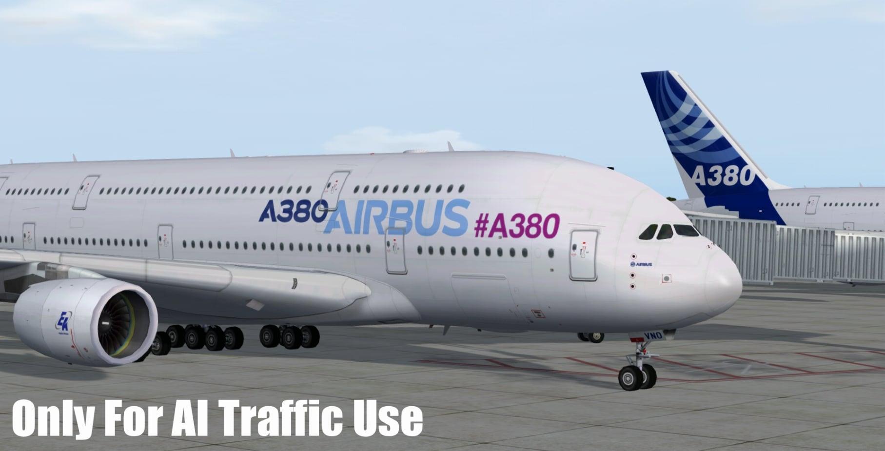 FSPXAI – Airbus A380 FSX/P3D AI-Traffic