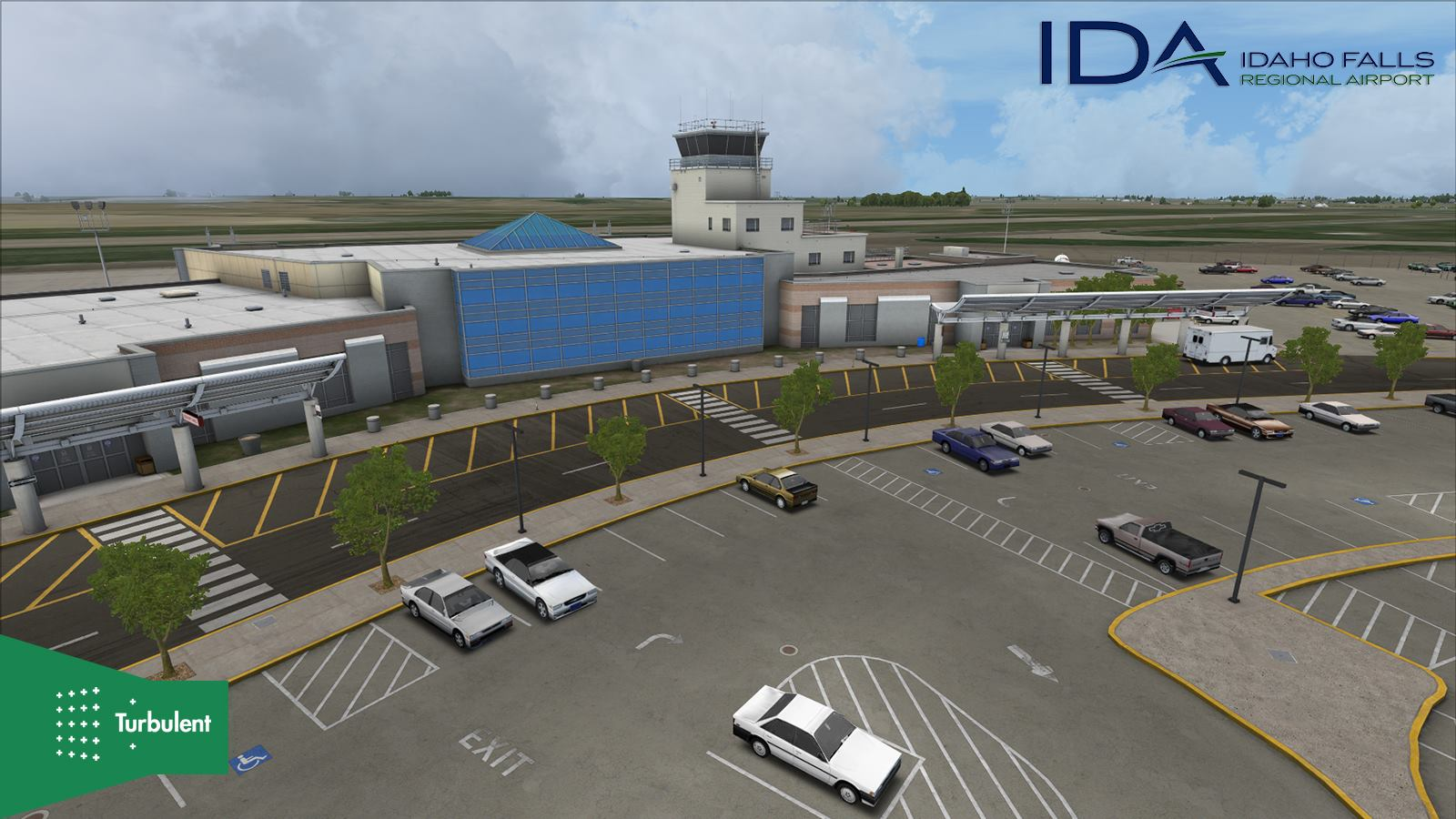 After MBS International release, the current scenery project at Turbulent Designs is KIDA Idaho Falls Regional airport.