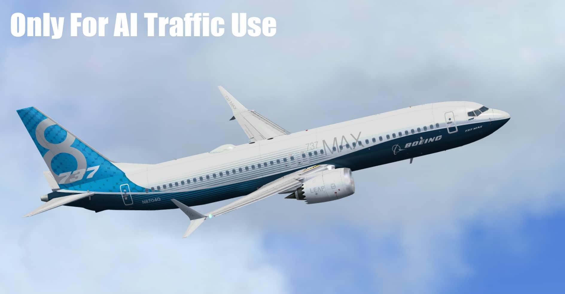 FSPXAI – Boeing 737MAX FSX/P3D AI-Traffic