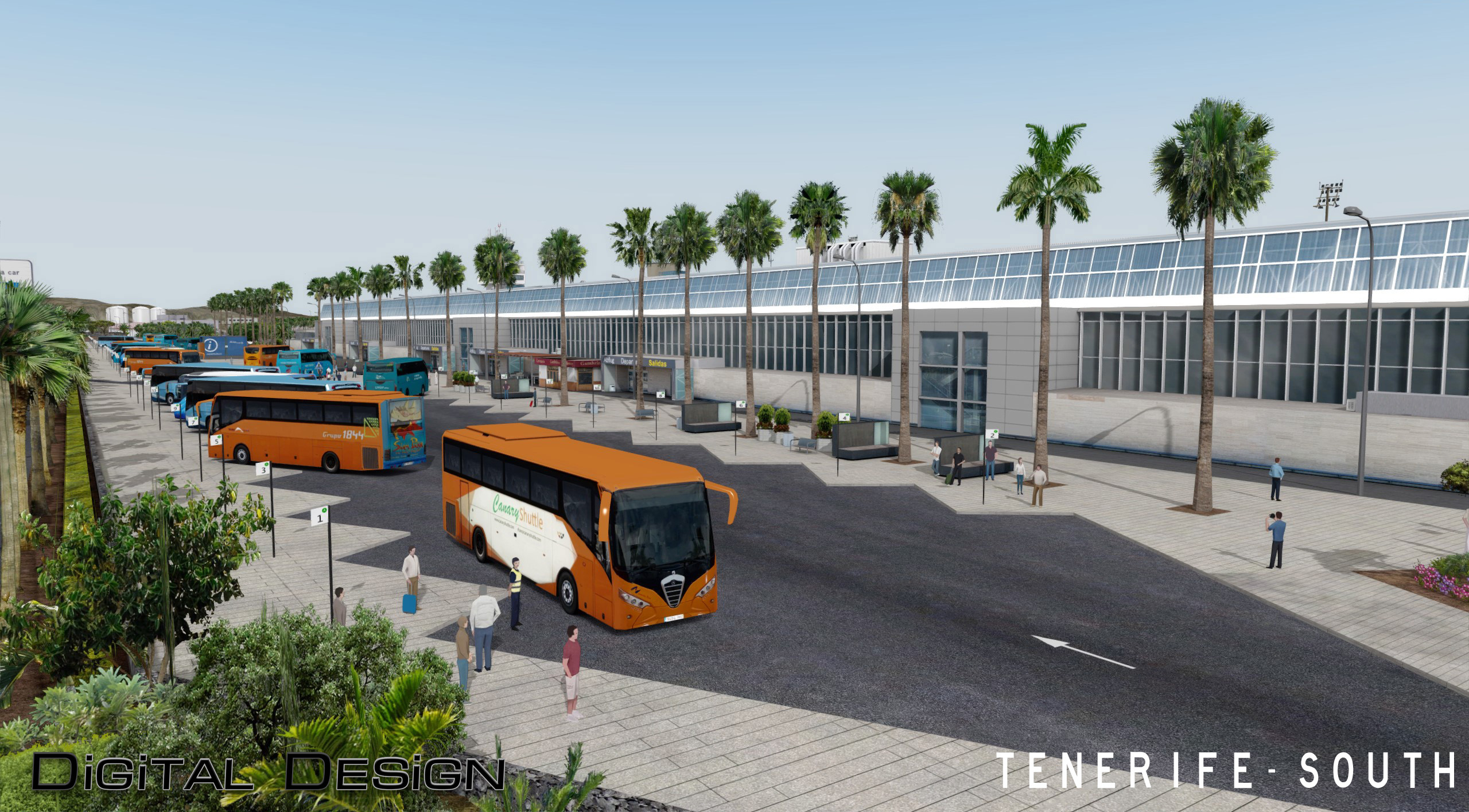 Aeroporto Tenerife Sud : Digital design tenerife south p3d4 the probability to land at
