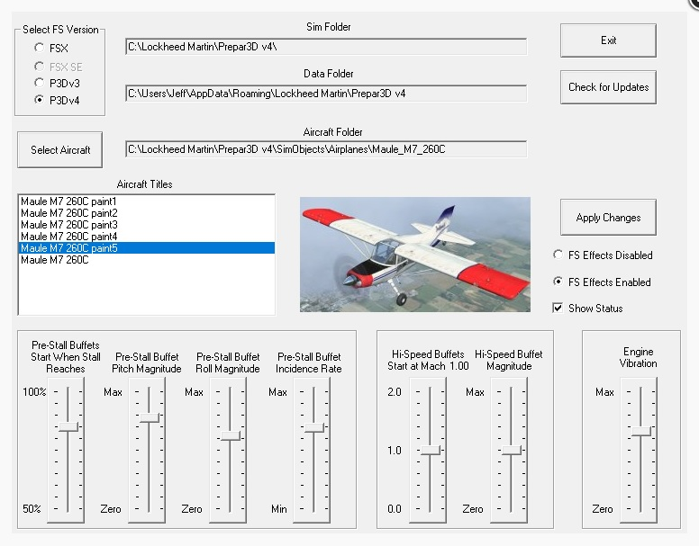 Flight 1 – FS Stall Effects Release
