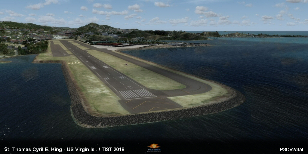 Tropicalsim St Thomas Cyril E King Tist 2018 Fsx P3d