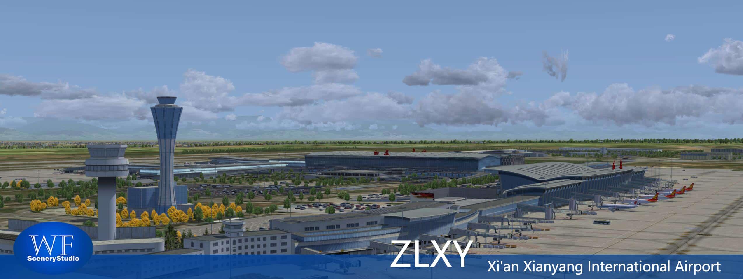 Xian Aeroporto : Wf scenery studio xi an xianyang intl zlxy p d after beijing