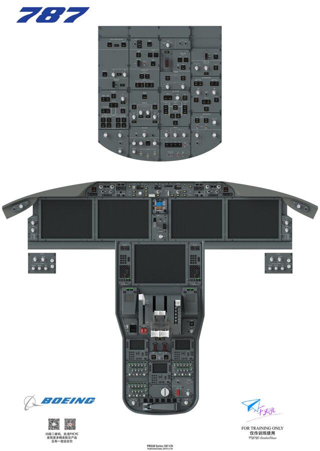Cockpit posters : 787 / 737 Max / 737NG