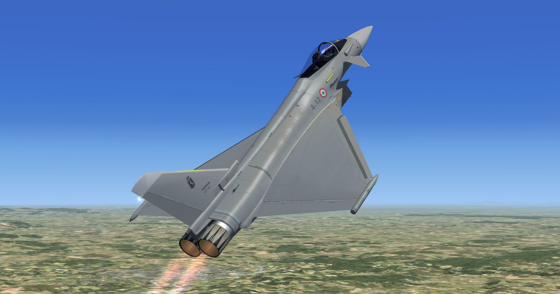 FlyFreeStd – Eurofighter EF-2000 Typhoon V2 P3D4