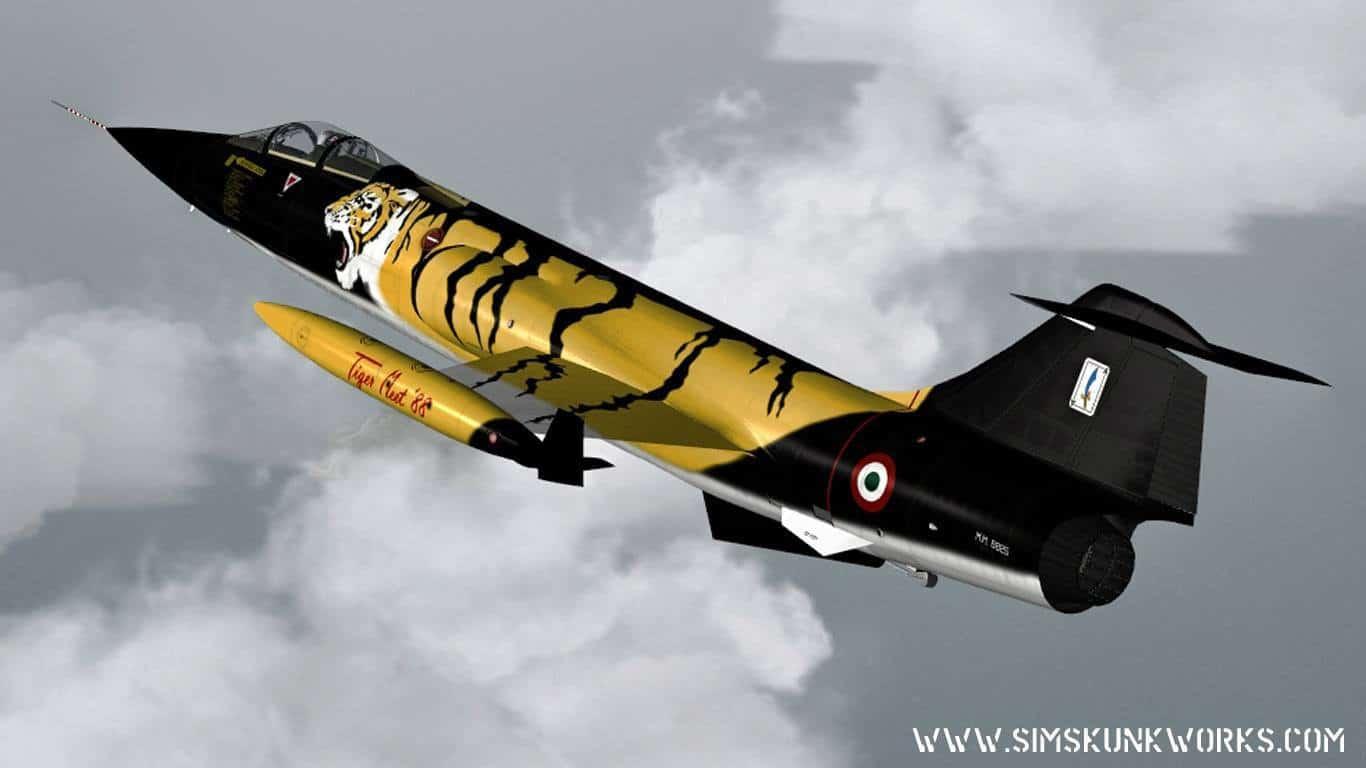 Sim Skunk Works – Lockheed Martin FRF-104G / Aeritalia F-104 S For FSX