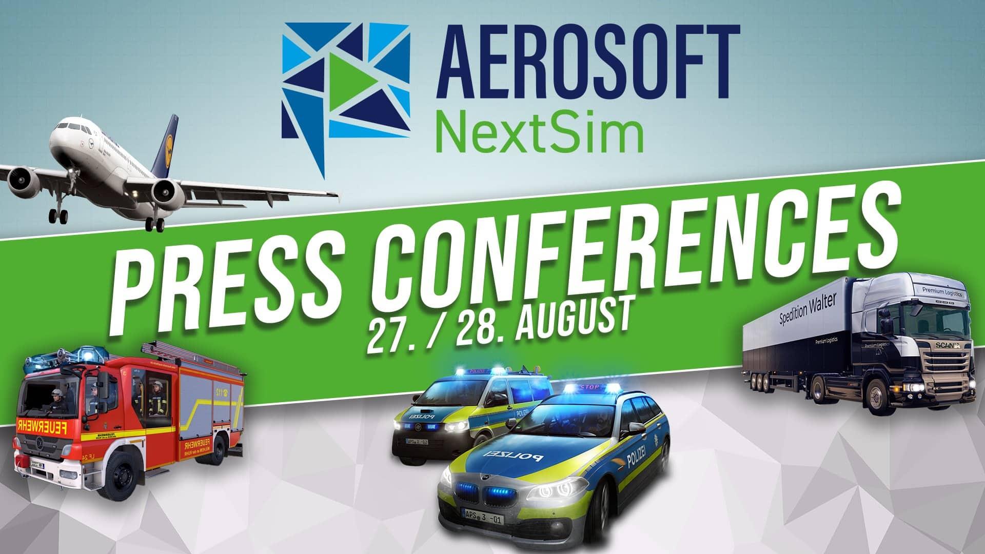 Aerosoft_NextSim_PressConference2020 Aerosoft - NextSim Press Conference Online