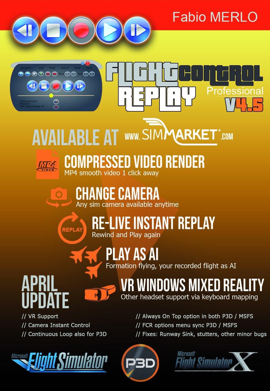 FlightControlReplay v4.5 April Update has been released !
