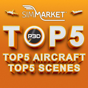 P3D5 Top5 Aircraft and Top5 Scenes at simMarket