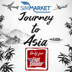 Journey to Asia MSFS with simMarket